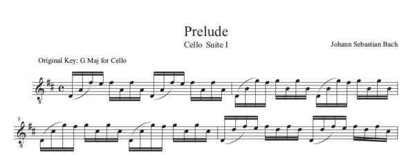 Sample of Bach Cello Suite Book