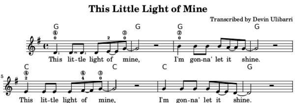 This Little Light of Mine Sample